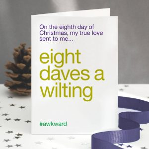 'Eight Maids A Milking' Funny Christmas Card Pack