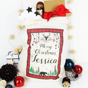 Merry Christmas, Personalised Christmas Sack