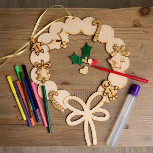 Christmas Wreath Kids Craft Activity Set
