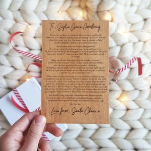 First Christmas Wood Personalised Christmas Letter