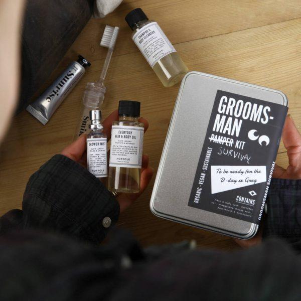 Groomsman Survival Personalised Letterbox Kit