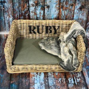 Personalised Luxury Dog Basket