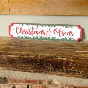 Personalised Metal Family Sign Christmas