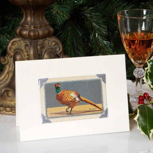 Vintage Pheasant Christmas Card