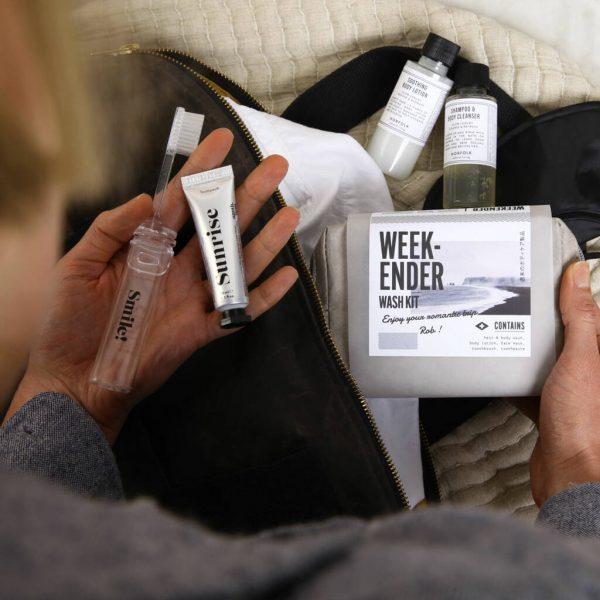 Weekender Wash Personalised Letterbox Kit