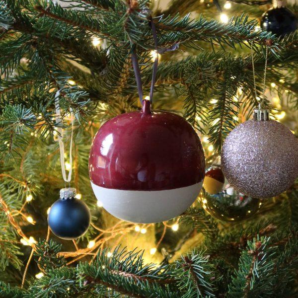 Personalised Hand Thrown Ceramic Christmas Bauble