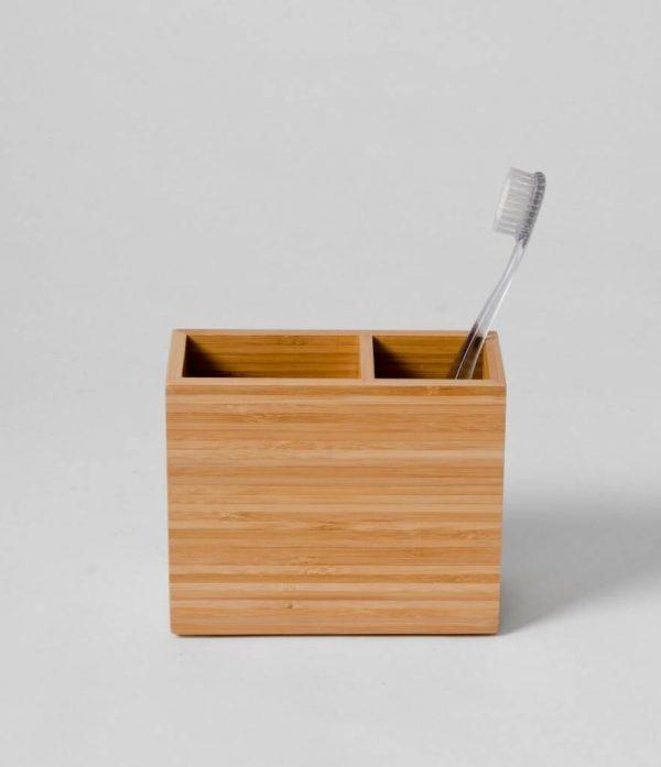 Bamboo Box Toothbrush Holder