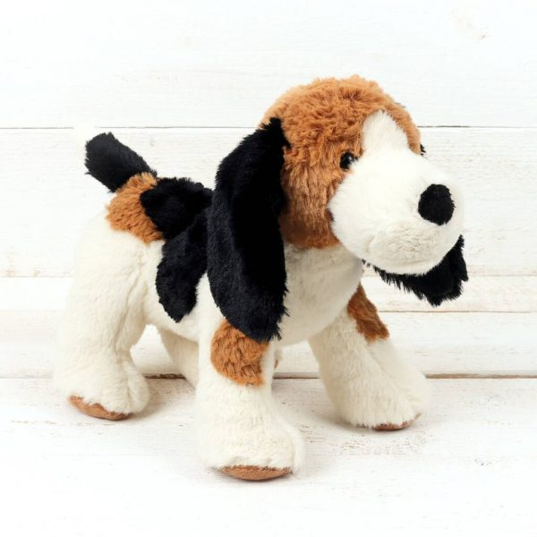 Puppy Dog Hound With Engraved Bone Tag