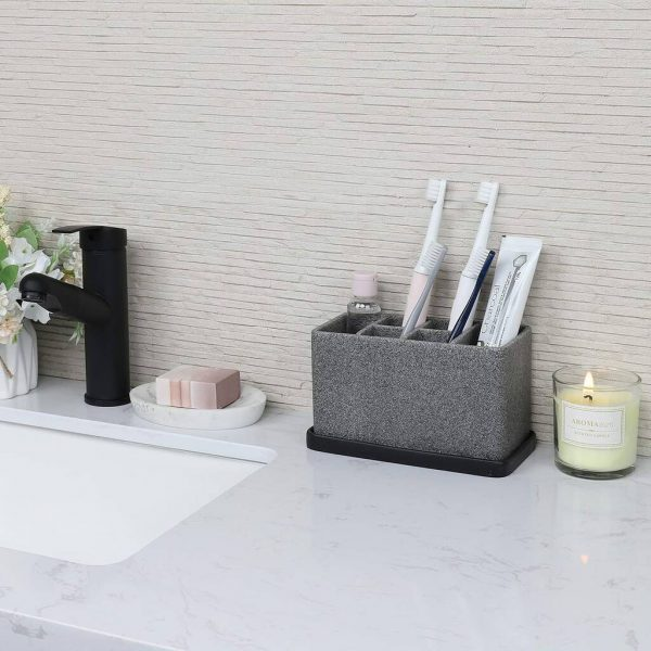 Large Bathroom Organizer For Toothbrush Toothpaste
