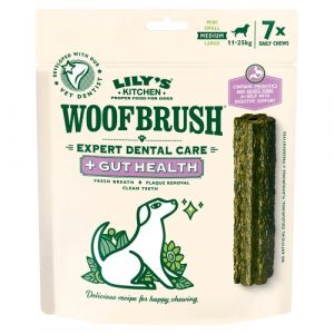 Lilys Kitchen Gut Health Woofbrush Dental Chews for Dogs Medium Dog x 35 Chews SAVER PACK