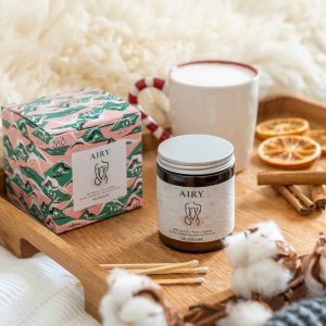 'Airy' Pine Scented Christmas Candle