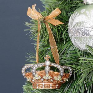 Bejewelled Crown Christmas Tree Hanging Decoration