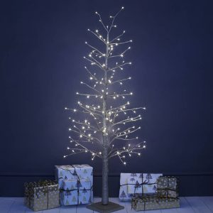 Champagne Gold Pre Lit Christmas Tree Two Sizes