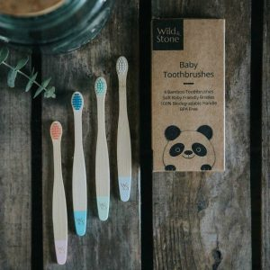 Baby Bamboo Toothbrush Four Pack Extra Soft Bristles