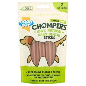 Good Boy Chompers Dental Sticks for Dogs - 125g - Small Dog - Pack of 7