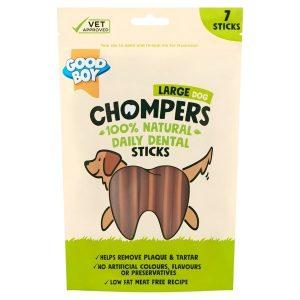 Good Boy Chompers Dental Sticks for Dogs - 265g - Large Dog - Pack of 7
