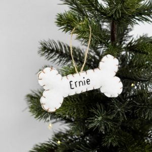 Personalised Dog Bone Christmas Tree Decoration